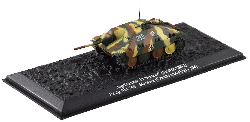 Jagdpanzer 38 Hetzer Sd.Kfz.138/2, Moravia, 1945, 1:72, Altaya