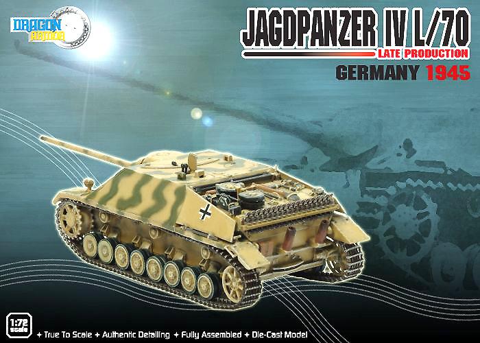 Jagdpanzer IV, L/70, Producción Tardía, Alemania, 1945, 1:72, Dragon Armor