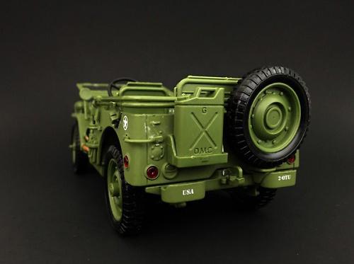 Jeep US Army, Policía Militar, 2ª Guerra Mundial, 1:18, American Diorama