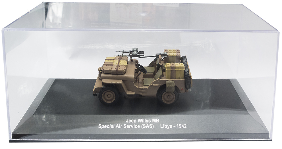 Jeep Willis MB, Special Air Service (SAS), Libia, 1942, 1:43, Atlas