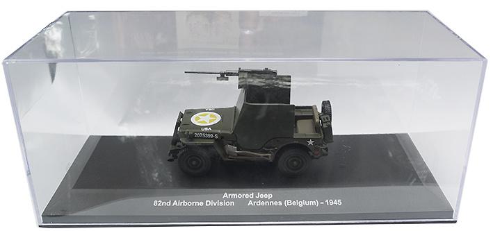 Jeep blindado, 82nd Airbone Division, Las Ardenas, Bélgica, 1945, 1:43, Atlas