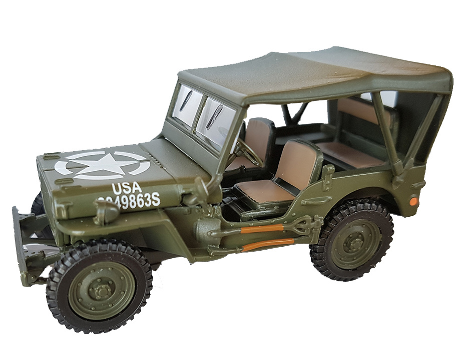 Jeep con capota de lona, 1:43, Cararama
