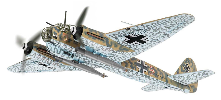 Junkers Ju-88 A-4 I/KG 77, Italy, 1942, 1:72, Corgi