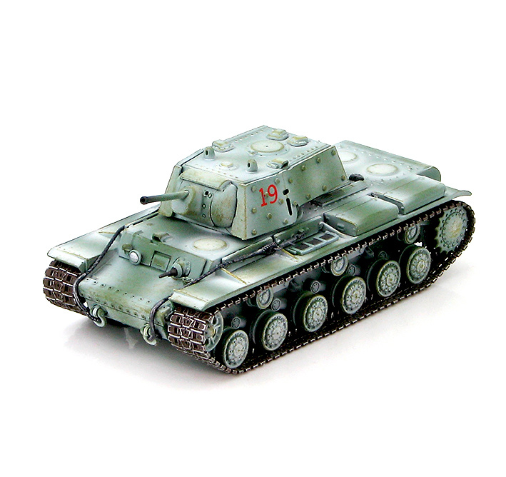 KV-1E Russian Heavy Tank unknown unit, sector Leningrado, invierno, 1942, 1:72, Hobby Master