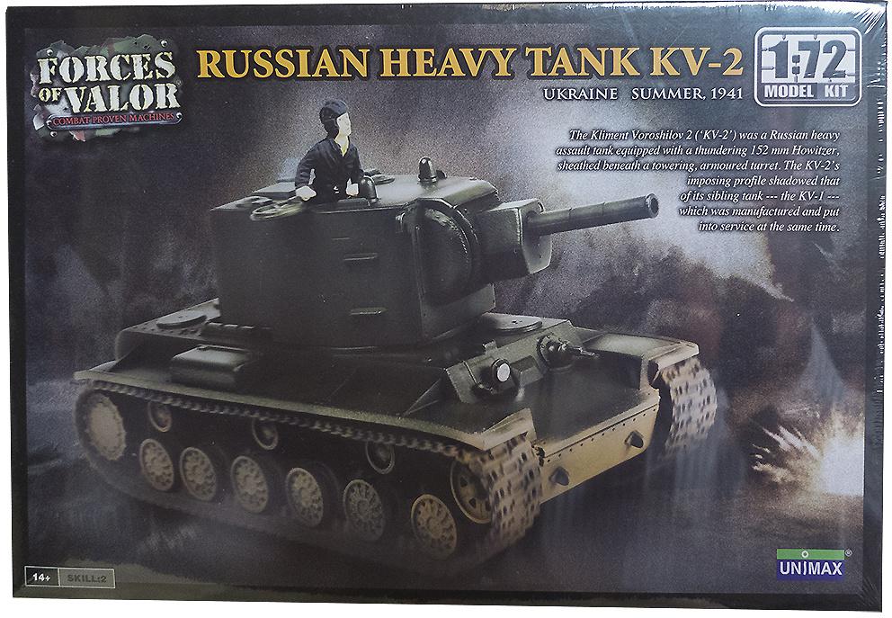 KV-2, Tanque Pesado Ruso, Ucrania, Verano, 1941, 1:72, Forces of Valor