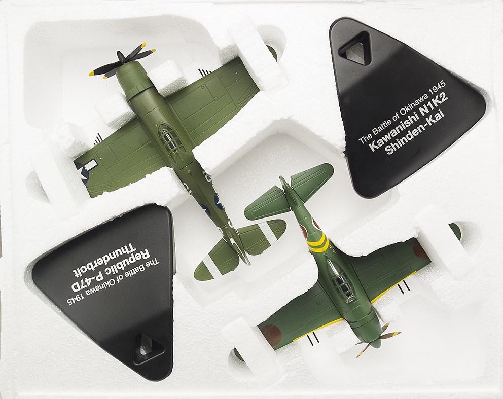Kawanishi N1K2 Shinden-Kai + Republic P-47D Thunderbolt