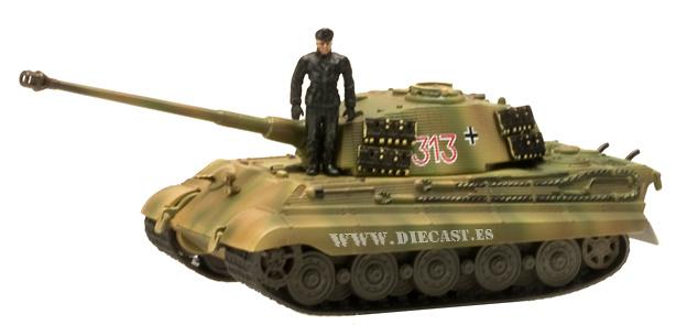 King Tiger, 501st heavy tank battalion, 1:72, Aoshima