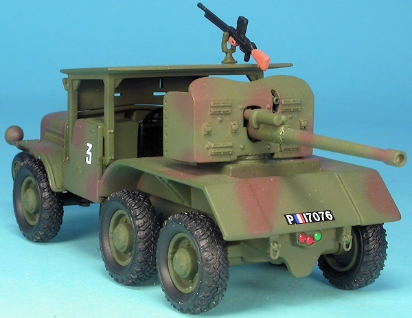 Laffly W15 TCC, car hunting vehicle, France, 2nd World War, 1:48, Gasoline