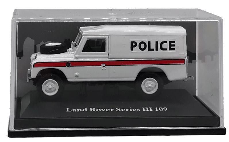 Land Rover 109 Serie III, Capota de lona, Policía, 1:72, Cararama
