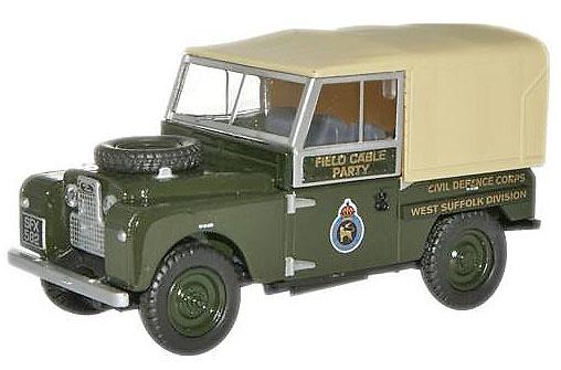 Land Rover 88 Techo de Lona, Civil Defence Corps, West Suffolk Division, Reino Unido, 1:76, Oxford