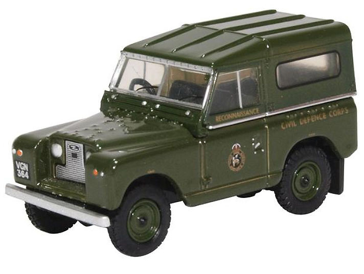 Land Rover Serie II, SWB, Civil Defence, Gran Bretaña, 1:76, Oxford