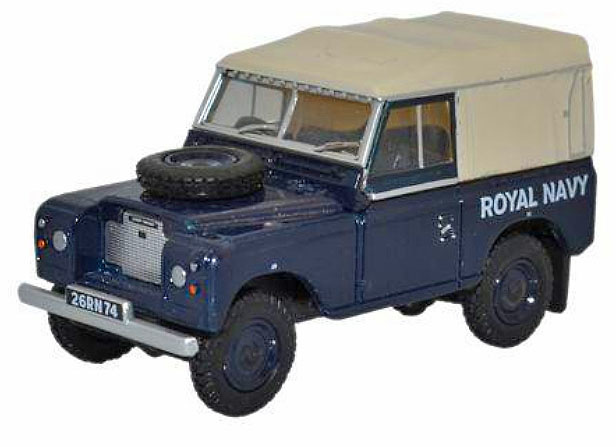 Land Rover Serie III, SWB, Techo de Lona, Royal Navy, 1:76, Oxford