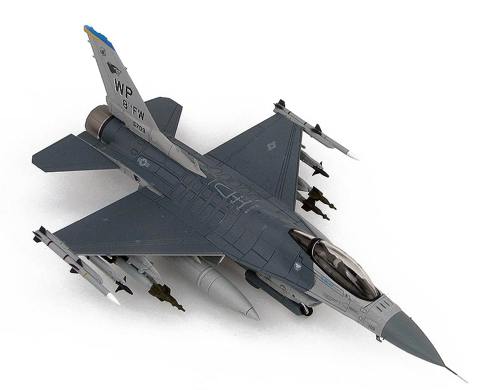 Lockheed F-16CG 90-0703, 8th FW Commander's Jet, Kunsan Air Base, Corea del Sur, 2007, 1:72, Hobby Master