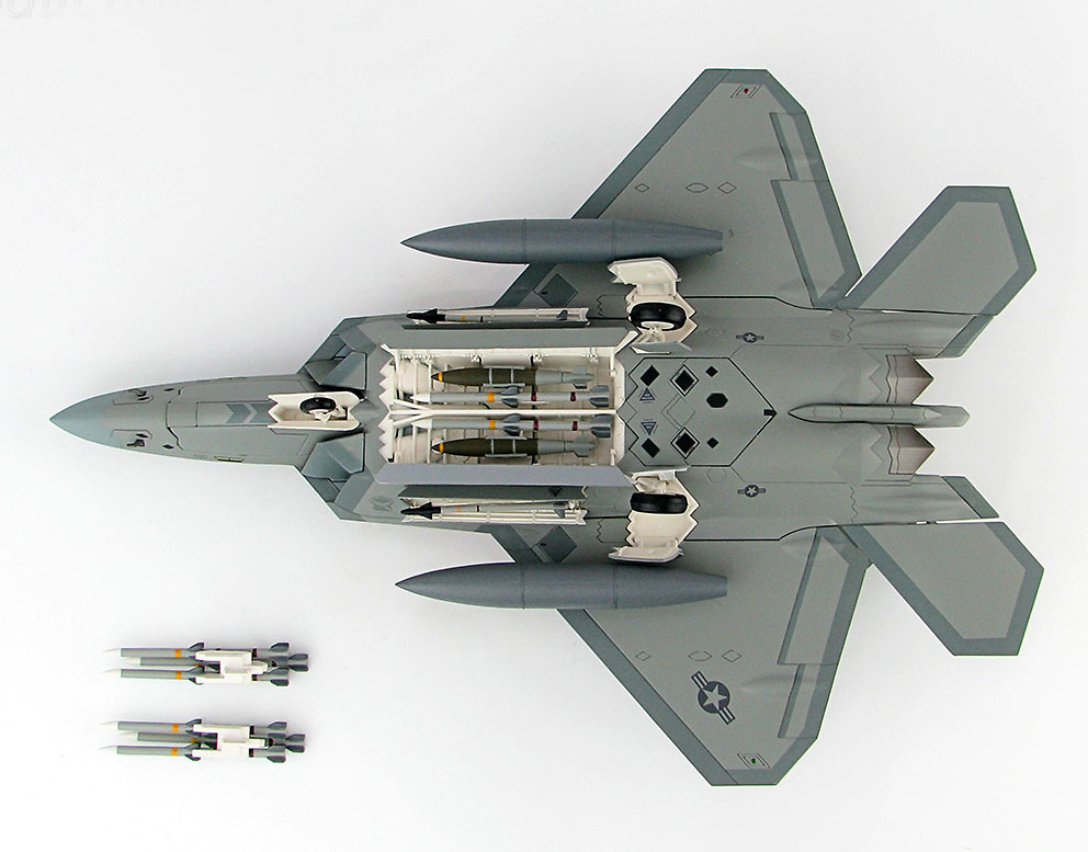 Lockheed F-22 Raptor 05-4086, 95th FS, RAF Lakenheath, Abril, 2016, 1:72, Hobby Master