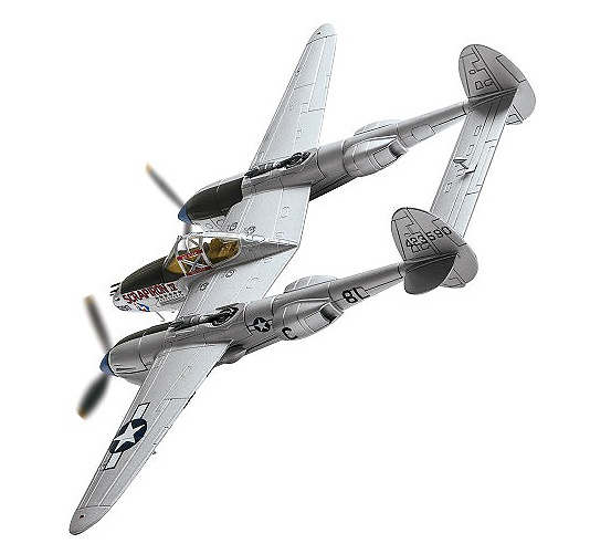 Lockheed P-38J Lightning, 44-23590 'Scrapiron IV' Capt. L E Blumer, Francia, 1944, 1:72, Corgi