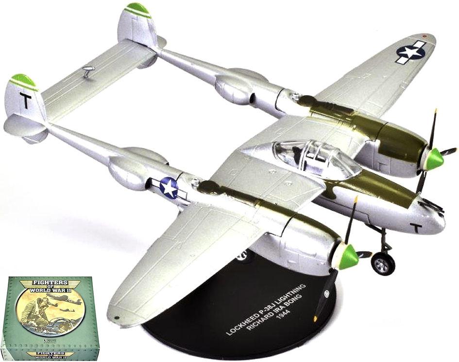 Lockheed P-38j Lightning, piloto Richard Ira Bong, 1944, 1:72, Atlas