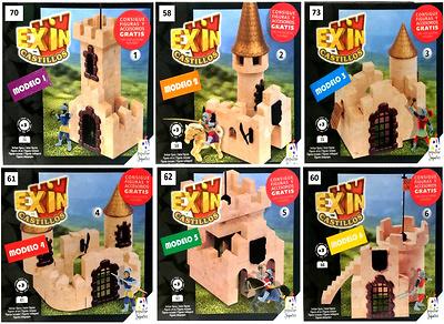 Lote de 6 modelos, edición especial, Exin Castillos