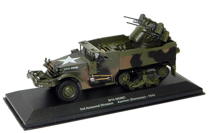 M16 MGMC Halftrack, 3rd Arm Div, Aachen, 1944, 1:43, Altaya
