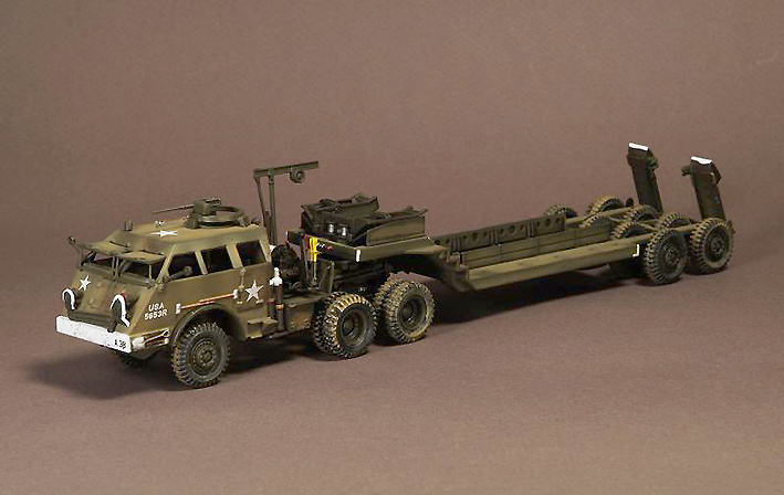 M26 Dragon Wagon con Trailer, 6x6, 12th US Armored Division, Francia, 1944, 1:72, War Master