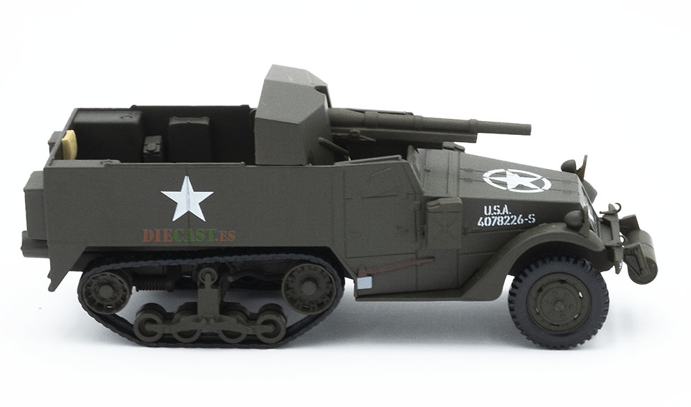 M3A-1 75 mm, Gun Motor Carriage, USA, 2ª Guerra Mundial, 1:43, Atlas