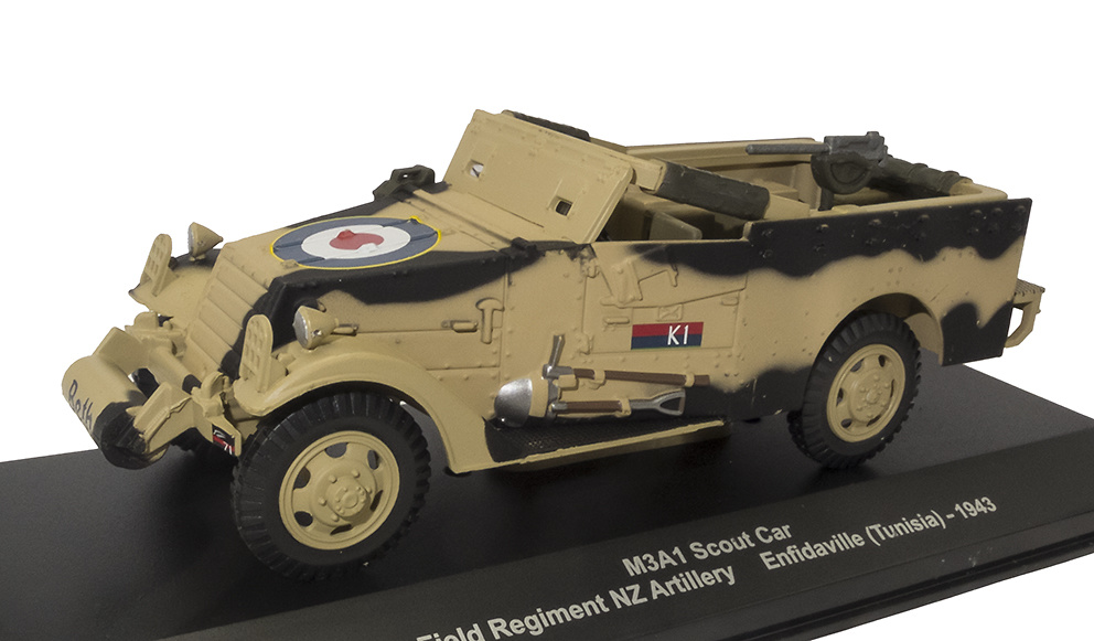M3A1 Scout Car, 5th Field Regiment NZ Artillery, Enfidaville, Túnez, 1943, 1:43, Atlas