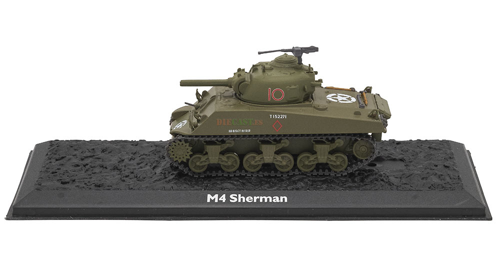M4 Sherman, USA, 1942/55, 1:72, Atlas Editions