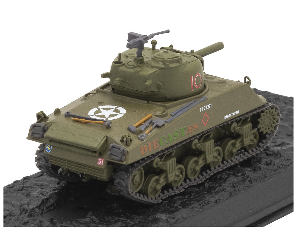 M4 Sherman, USA, 1942/55, 1:72, Atlas Editions