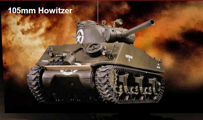 M4A3 Sherman, 105 mm. Howitzer, USA, 1:24, VS Tank Pro