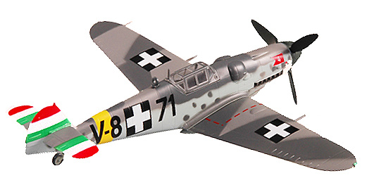 Messerschmitt BF-109G-6, Hungary, 1944, 1:72, Easy Model