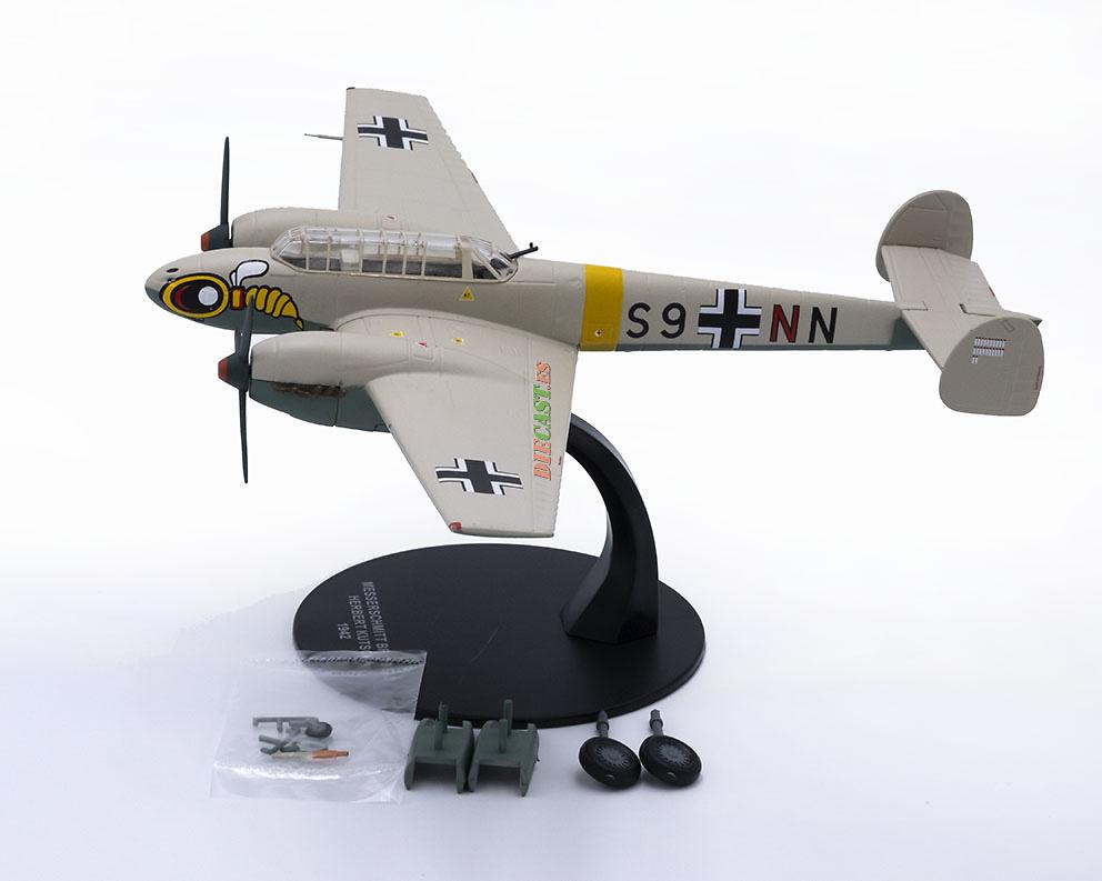Messerschmitt BF-110 E-2, piloto Herbert Kutscha, Alemania, 1942, 1:72, Atlas