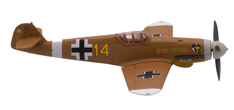 Messerschmitt Bf-109 F-4/Trop, piloto Hans Joachim Marseille, 1942, 1:72, Atlas