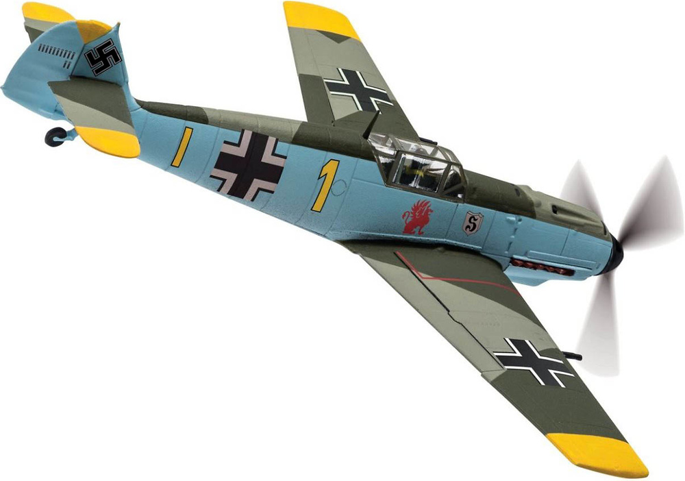 Messerschmitt Bf109E-4 'Yellow 1' Oblt. Gerhard Schopfel, Battle of Britain, 1:72, Corgi