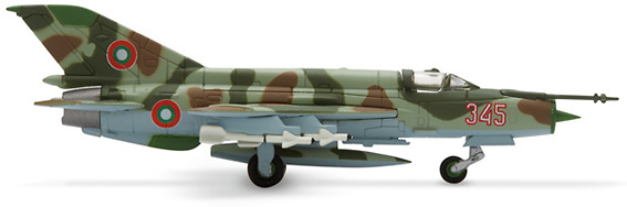 Mikoyan MiG-21MF, Bulgarian Air Force, 3rd Fighter Airbase, 1:200, Herpa