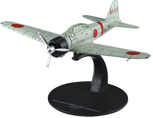 Mitsubishi A6M2b Zero 21, 2ª Guerra Mundial, Armada Japonesa, 1:72, DeAgostini