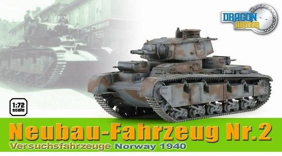 Neubau-Fahrzeug Nr.2, Versuchsfahrzeuge, Noruega, 1940, 1:72, Dragon Armor