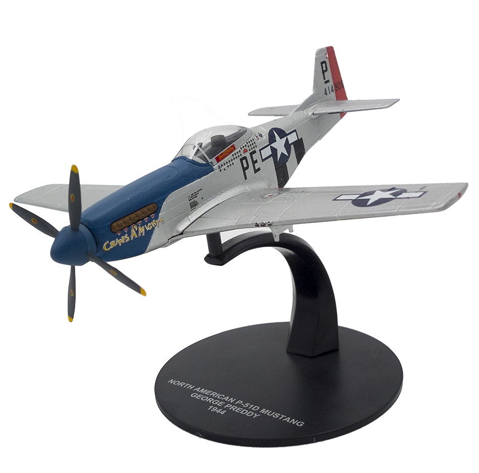 "12 DIE CAST /"" NORTH AMERICAN P-51D /"" WW2 AIRCRAFT COLLECTION FIGHTER 1//72"