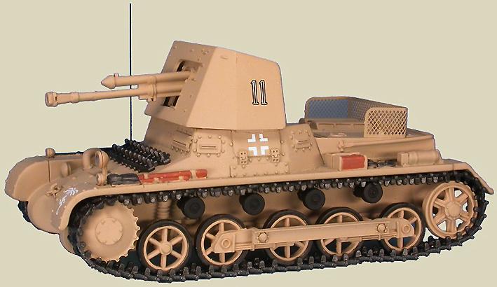 Panzerjäger I Ausf.B 4.7cm PaK(t) (Sf) auf Panzerkampfwagen I, Panzerjäger-Abteilng 605 5.Leichte-Division, Libia, abril, 1941, 1:48, Gasoline