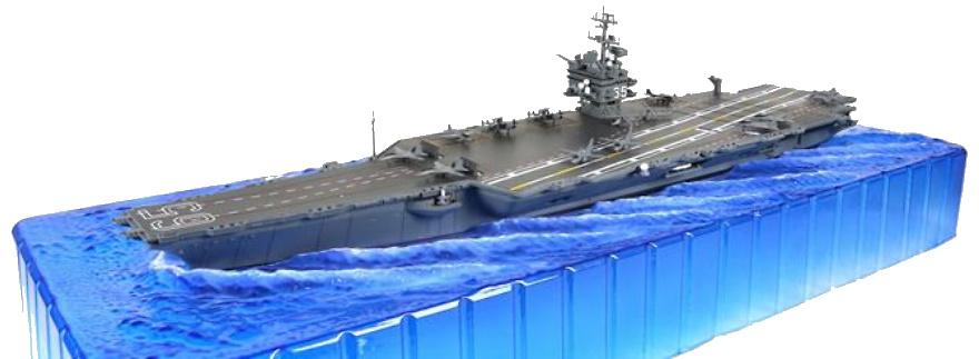 Portaaviones USS Enterprise CVN-65, Mar Mediterráneo, 2001, 1:700, Forces of Valor