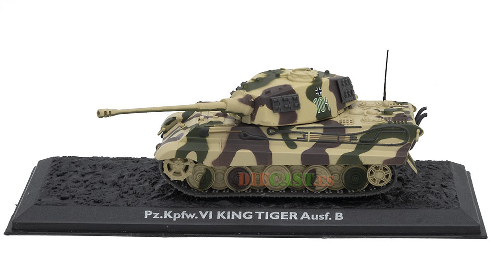Pz.Kpfw. VI King Tiger Ausf. B, Alemania, 1944/45, 1:72, Atlas Editions