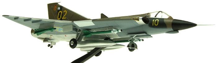 Saab Draken J35F 10-02 35-602, Swedish Air Force, Angelholm, 1995, 1:72, Aviation 72