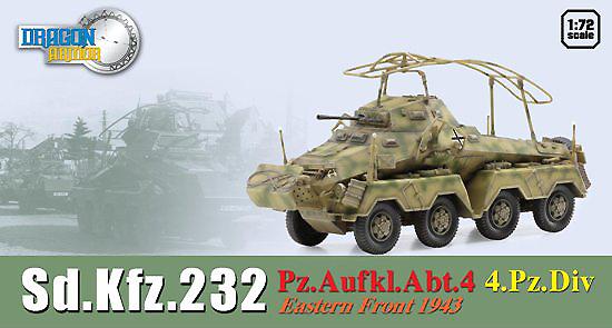 Sd.Kfz.232 Pz.Aufkl.Abt.4 4.Pz. Division, Frente del Este, 1943, 1:72, Dragon Armor