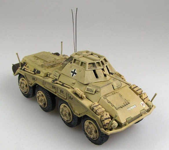 Sd.Kfz.234/1, 6.Pz.Div., Czechia, April 1945, 1:72, Panzerstahl