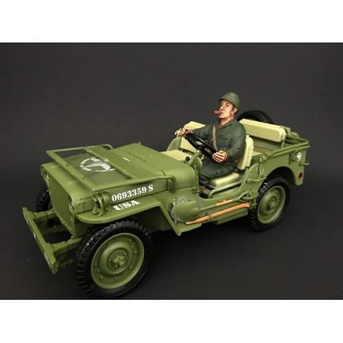 Soldado USA, conductor de Jeep, 2ª G.M., 1:18, American Diorama