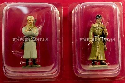 Soldado de infatería Ruso + Lamdstrum Alemán, 1915 1:32, Hachette