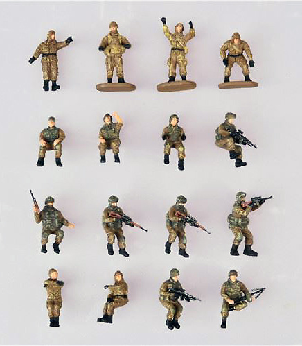 Soldados Rusos modernos, tripulantes de carro de combate, 1:72, Modelcollect