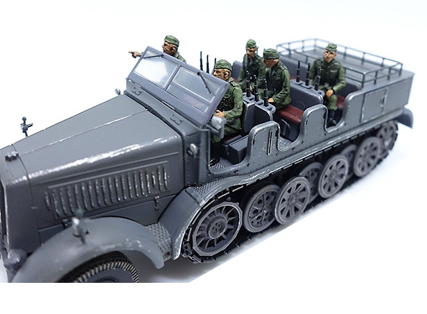 Soldados alemanes sentados, 2ª Guerra Mundial, Set B, 1:72, PMA