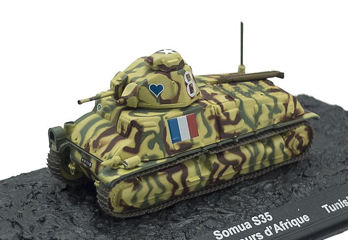 Somua S35, 12ème Régiment de Chasseurs d'Afrique, Tunisia, 1943, 1:72, Altaya