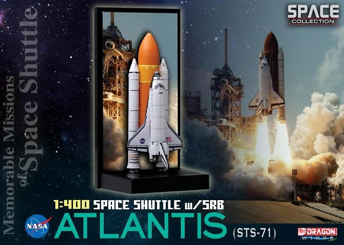 Space Shuttle Atlantis w/SRB (STS-71), 1995, 1:400, Dragon Space Collection