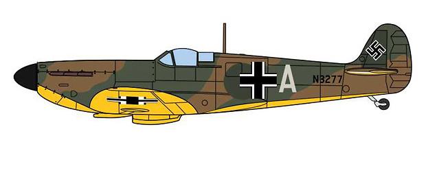 Spitfire MKI N3277 capturado por la Luftwaffe, Alemania, 1940, 1:72, Oxford