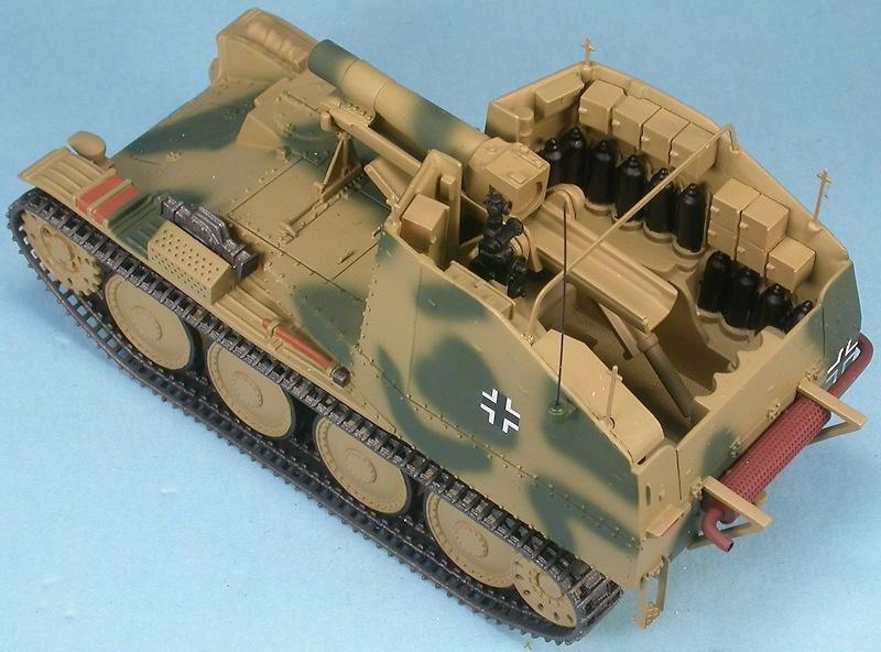 Sturmpanzer 38(t) Assault Gun Grille 38(t) Ausf.M Sd.Kfz.138/1, Hungria, 1945, 1:48, Gasoline